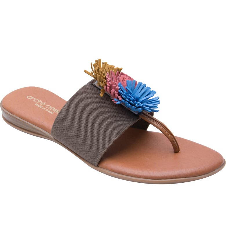 ANDRÉ ASSOUS Novalee Sandal, Main, color, TAUPE MULTI FABRIC