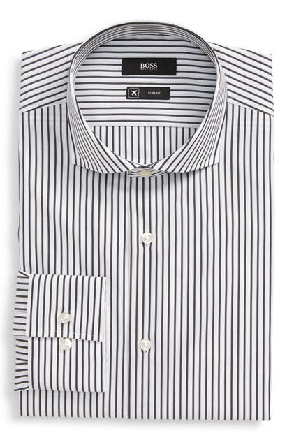 Boss Dresses JASON SLIM FIT STRIPE DRESS SHIRT