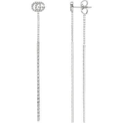 Gucci Double-G Diamond Pendant Drop Earrings