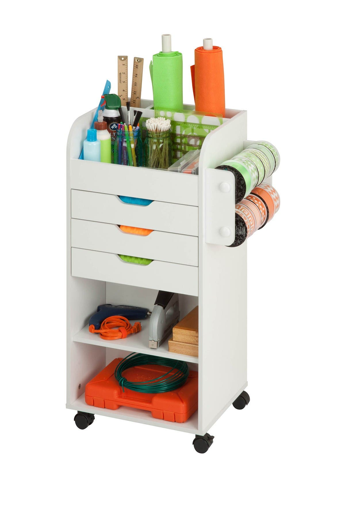 Image of Honey-Can-Do Rolling Craft Storage Cart