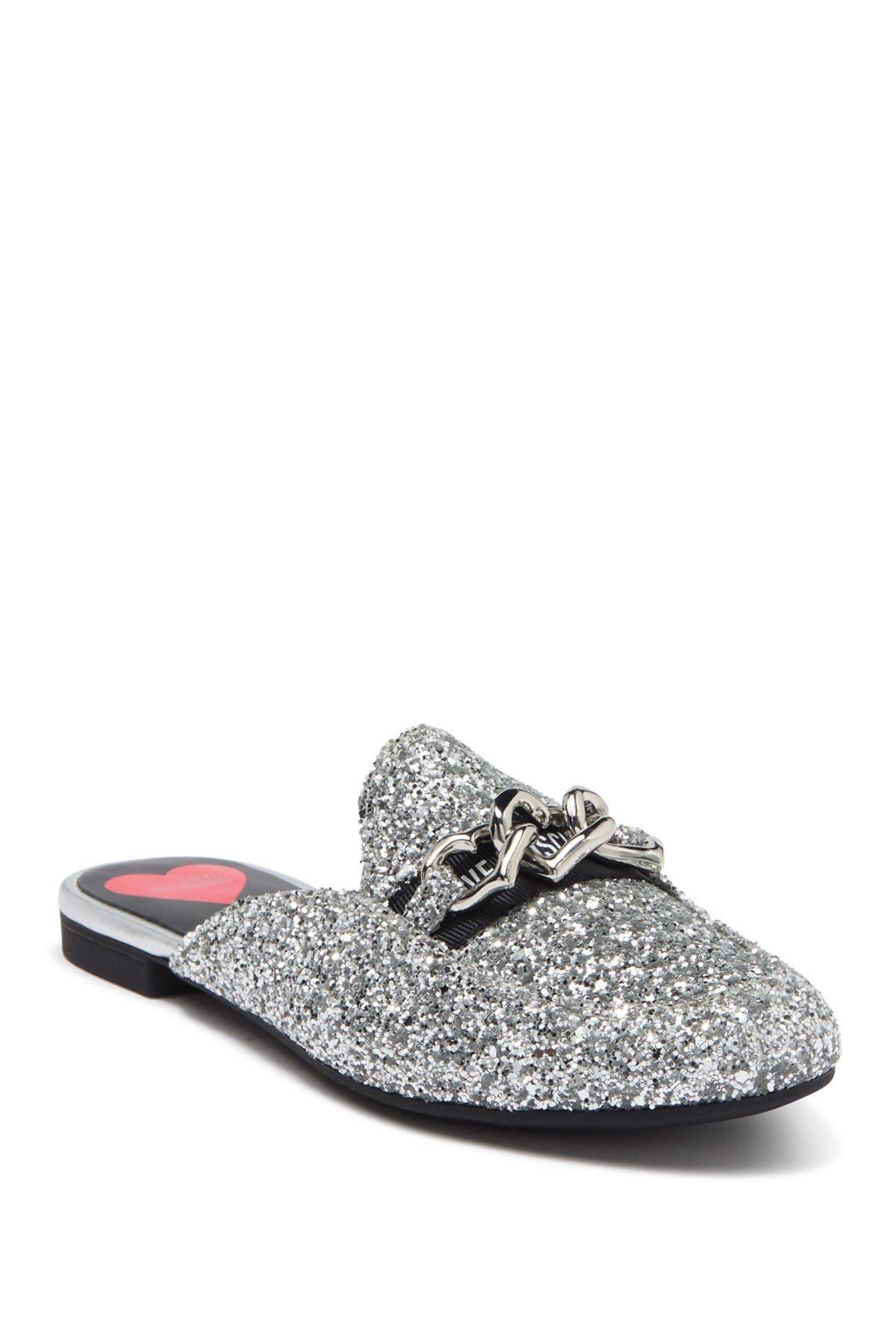 Image of LOVE Moschino Metallic Glitter Slip-On Mule