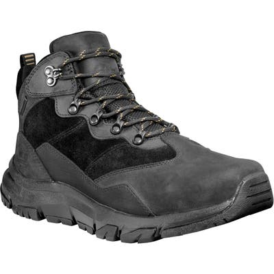 Timberland Garrison Field Waterproof Hiking Boot, Black