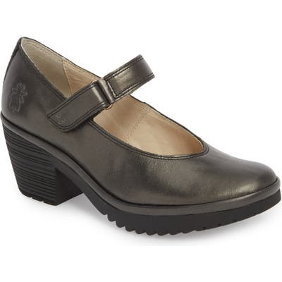 Fly London Wiss Mary Jane Pump - Brown
