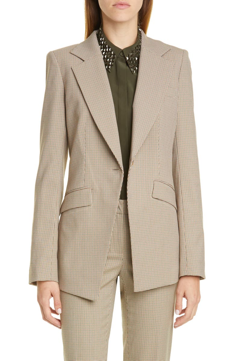 LAFAYETTE 148 NEW YORK Virginia Houndstooth Blazer, Main, color, MELBA MULTI