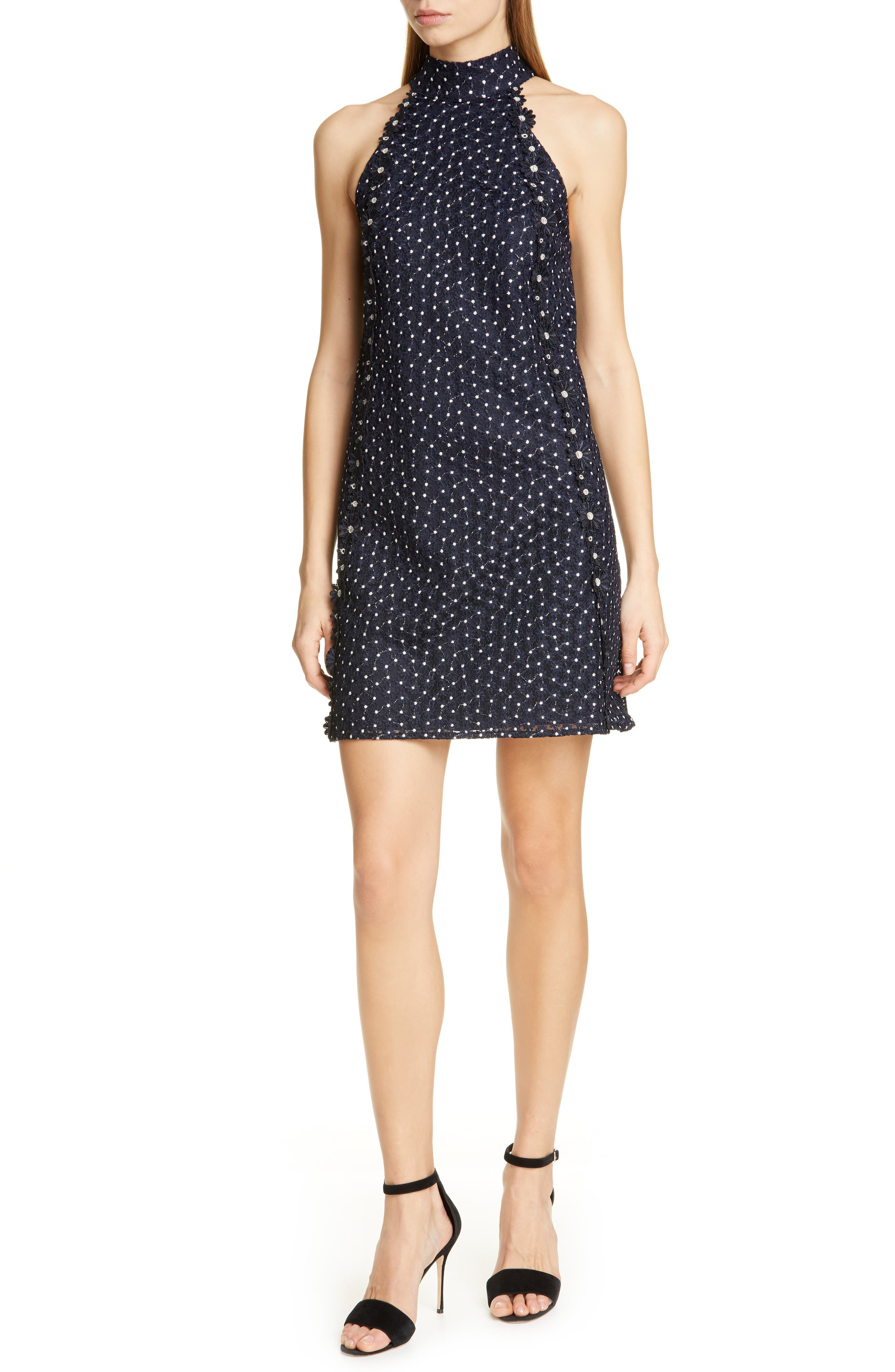 Ted Baker London Daysil Daisy Lace Halter Dress, Blue
