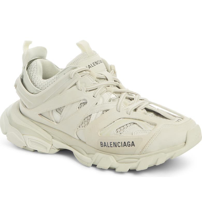 BALENCIAGA Track Low Top Sneaker, Main, color, WHITE