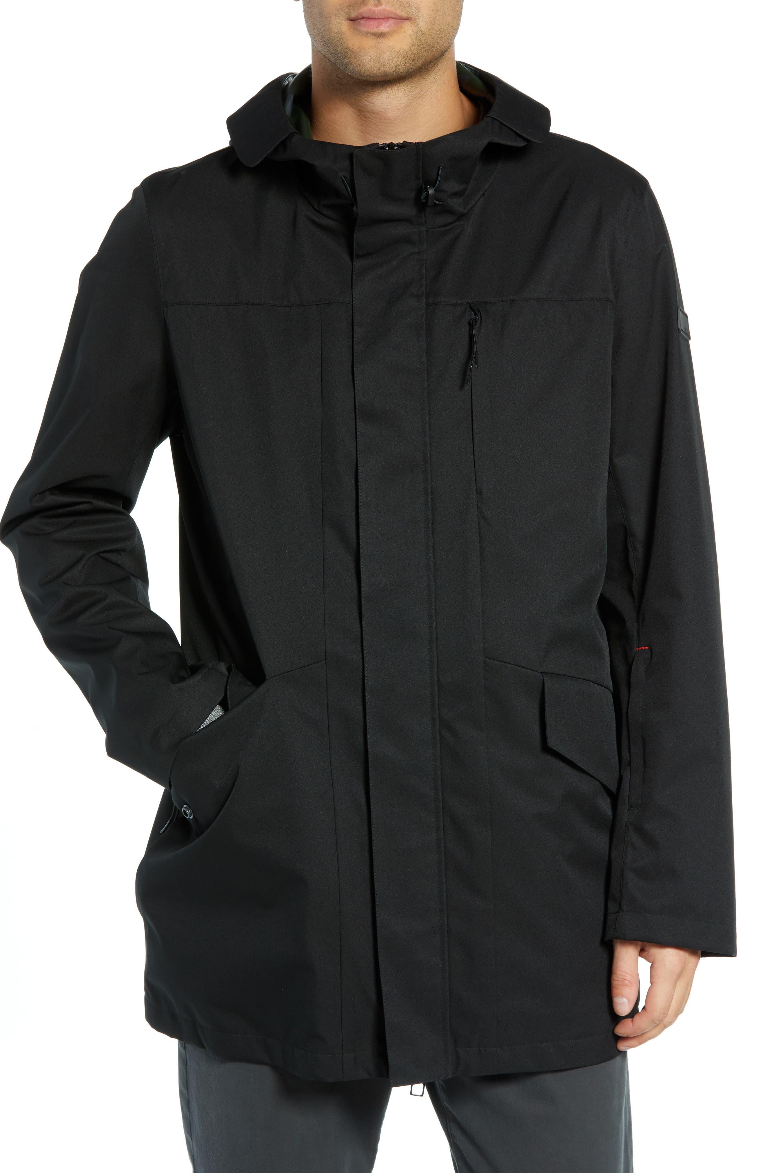 ,                             Packable Water-Resistant Raincoat,                             Alternate thumbnail 5, color,                             BLACK