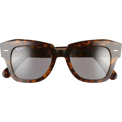 Ray-Ban State Street 4m Square Sunglasses - Havana/ Dark Grey Solid
