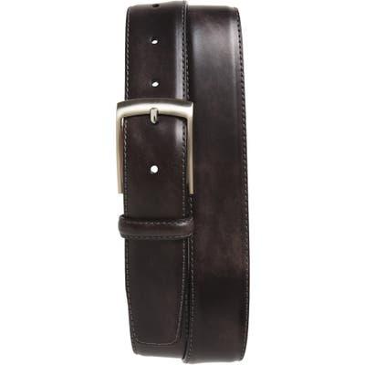 Magnanni Tabon Leather Belt, Grey