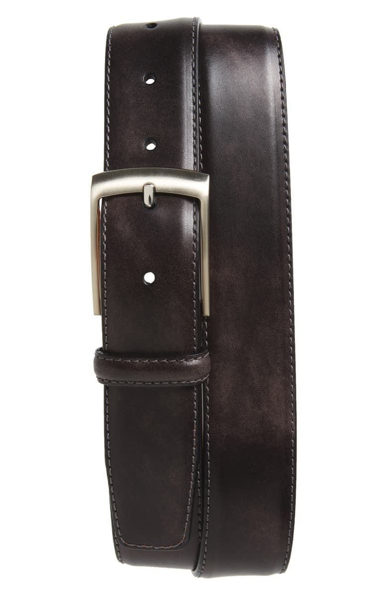 Tabon Leather Belt by Magnanni