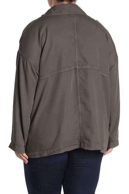 Image of Caslon Open Front Utility Jacket