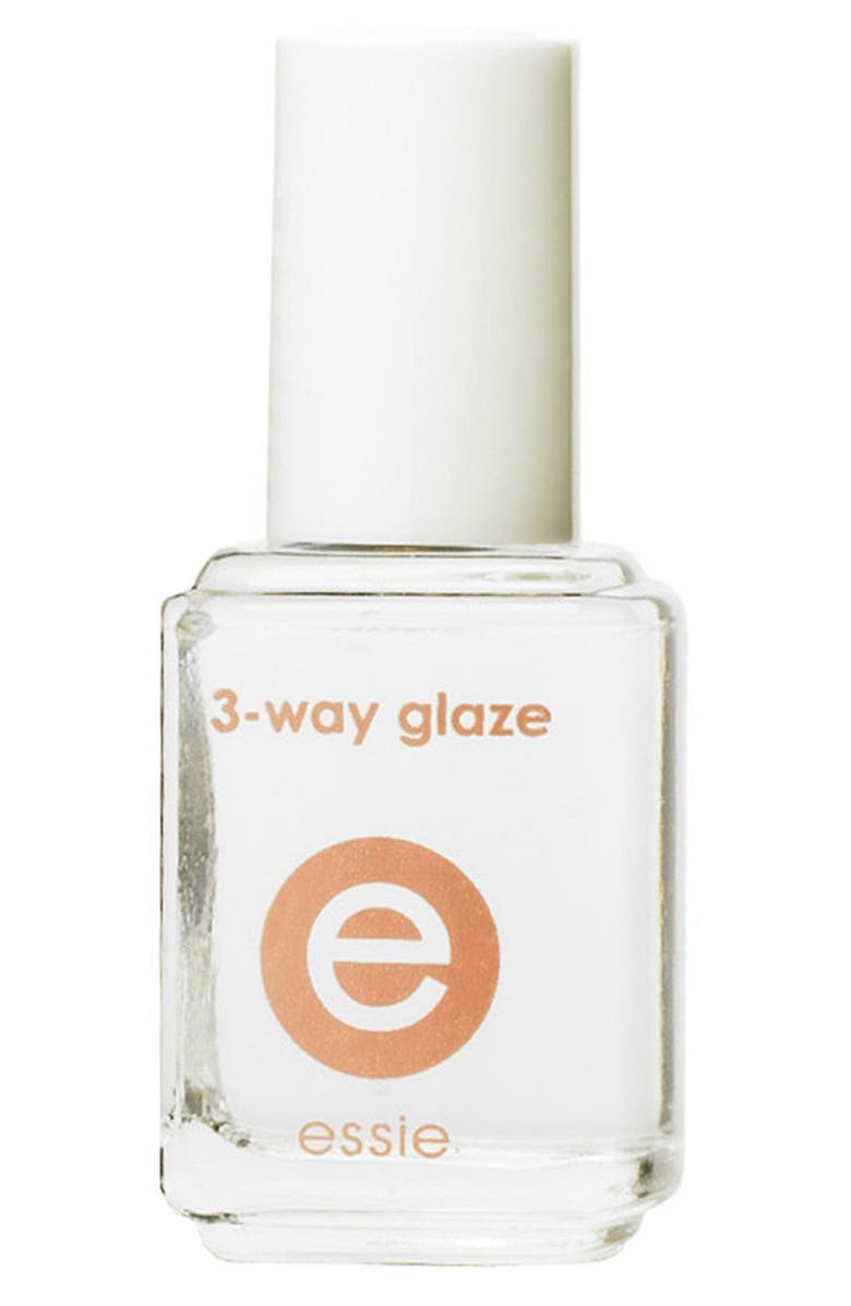 ESSIE <sup>®</sup> '3-Way Glaze' Base, Strengthener & Top Coat, Main, color, 000