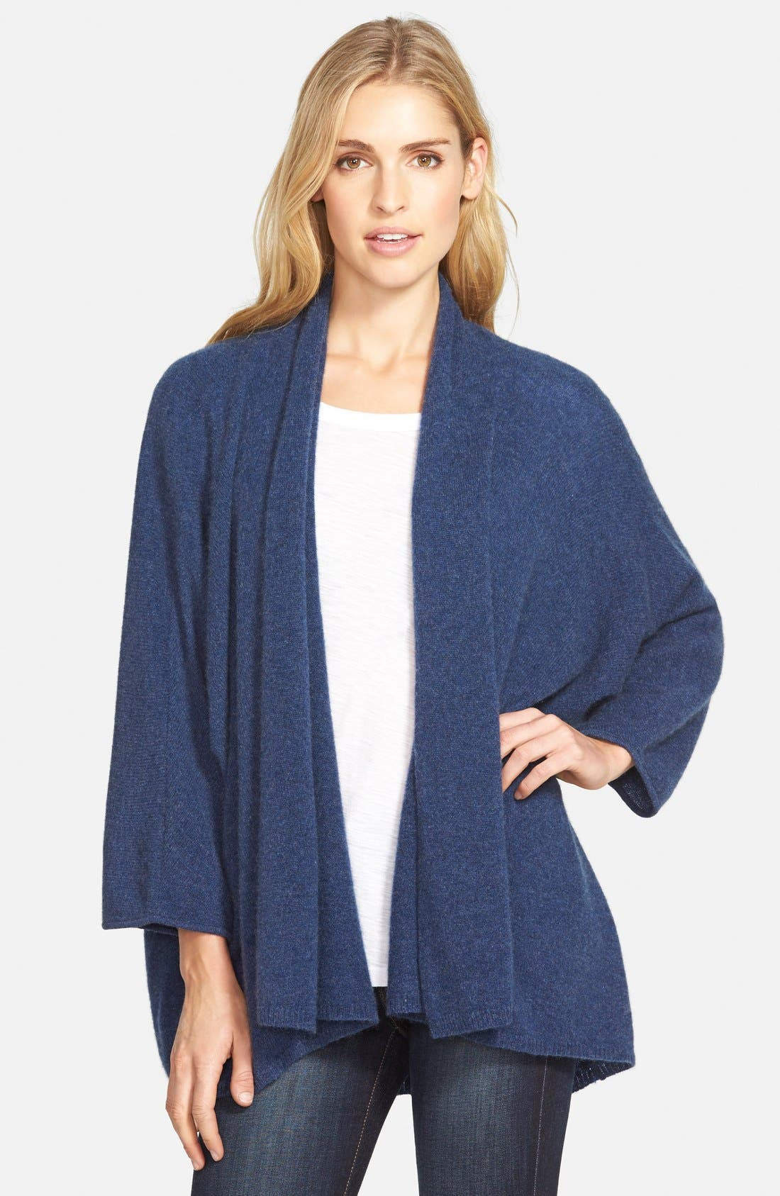 ,                             Open Front Cashmere Cardigan,                             Main thumbnail 9, color,                             400