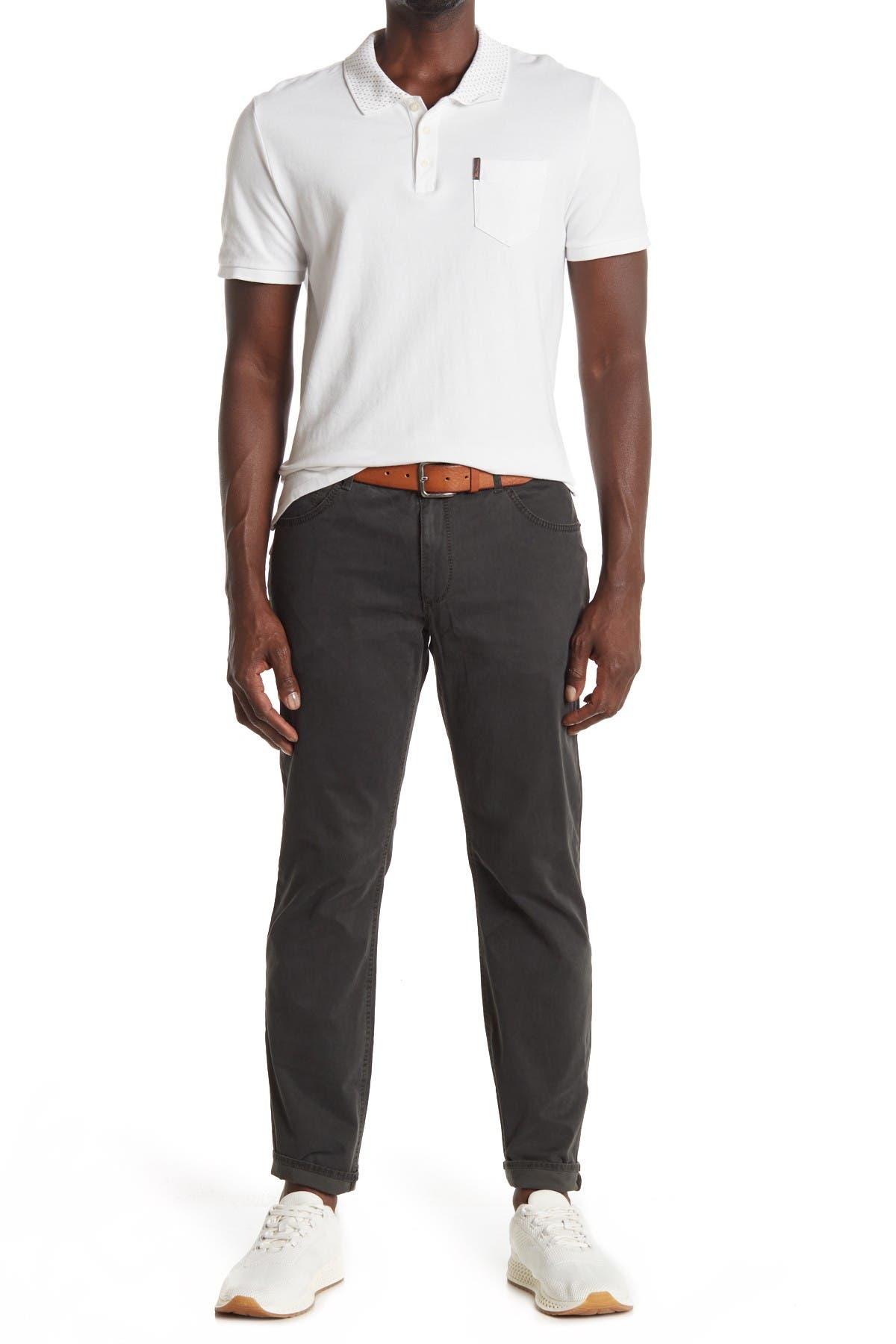 "Image of Brax Solid 5-Pocket Pants - 34"" Inseam"