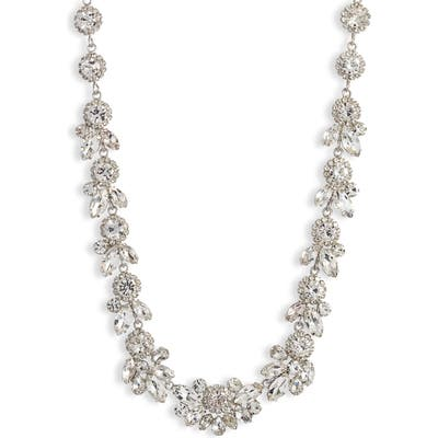 Cristabelle Floral Crystal Statement Necklace