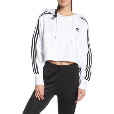 Adidas Originals Crop Hoodie, White
