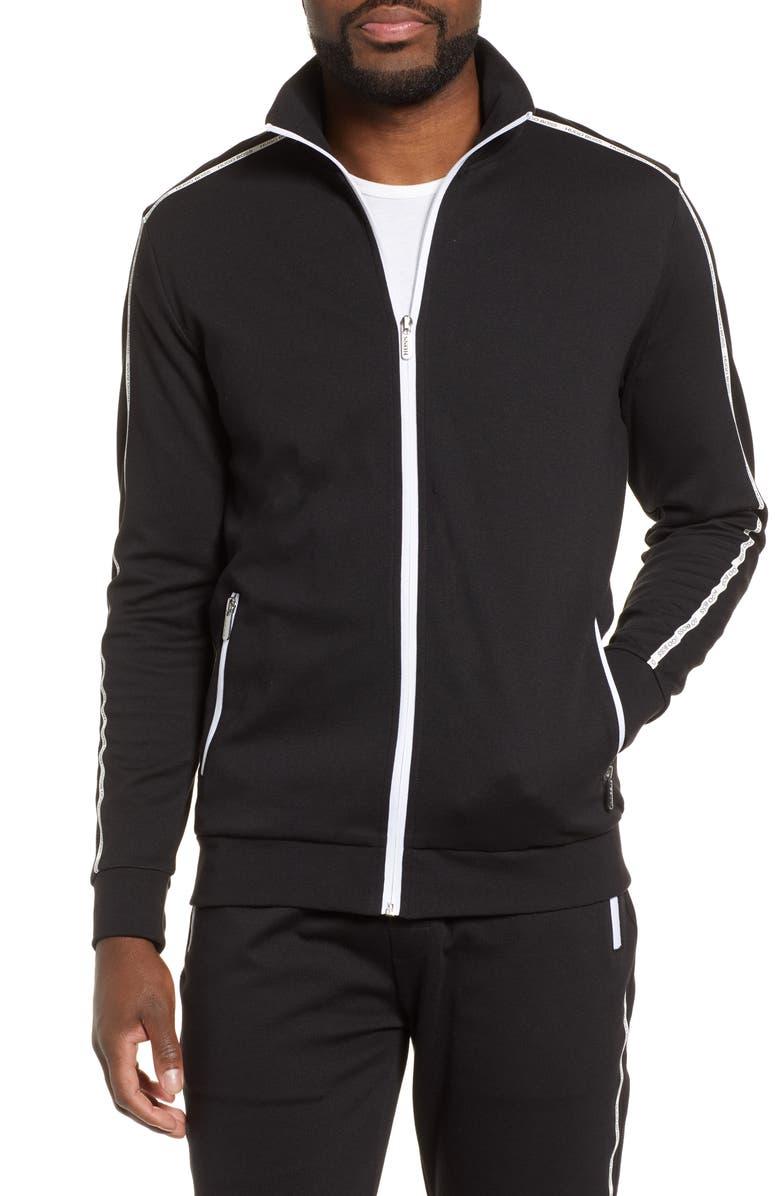 BOSS Track Jacket, Main, color, BLACK