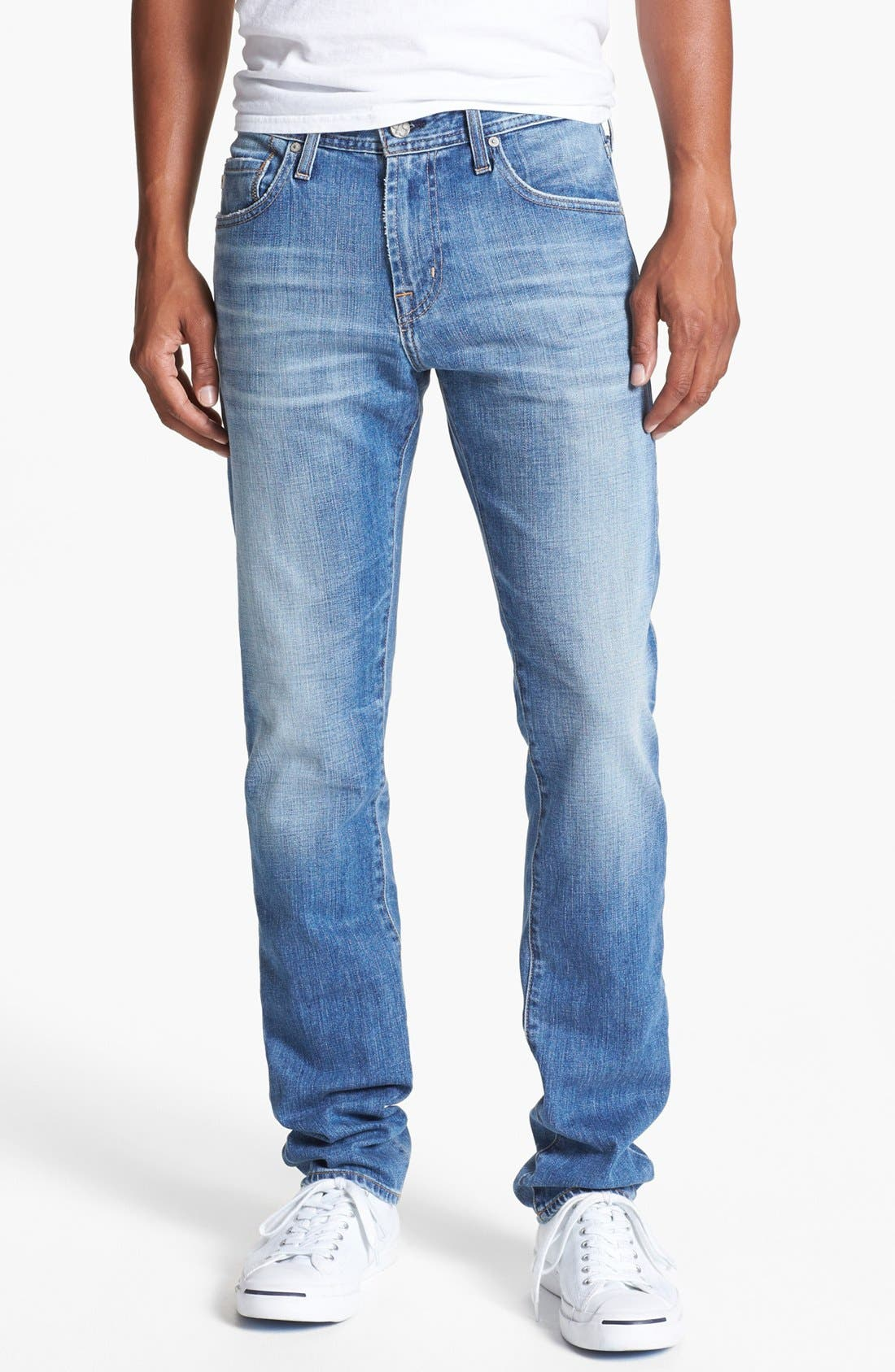 'Dylan' Slim Skinny Leg Jeans, Main, color, 454