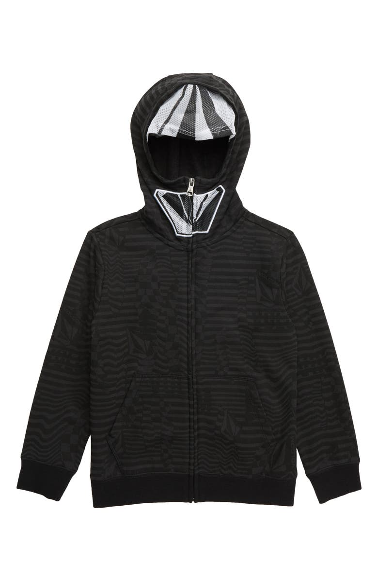 VOLCOM Cool Stone Mask Hoodie, Main, color, BLACK