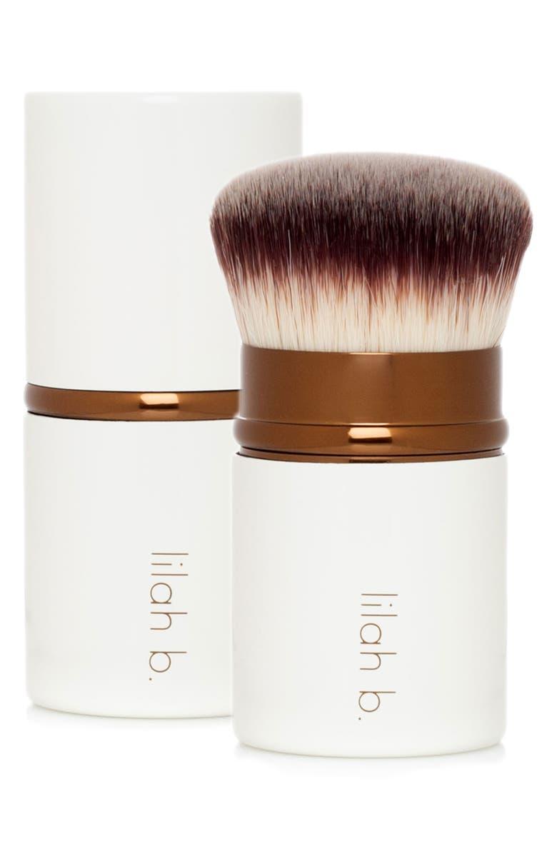 LILAH B. Retractable Crème Foundation Brush, Main, color, NO COLOR