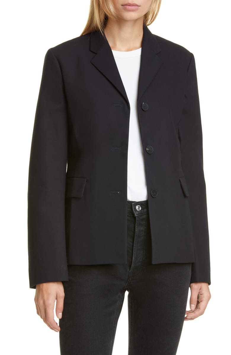 SOFIE D'HOORE Cotton Twill Blazer, Main, color, MIDNIGHT