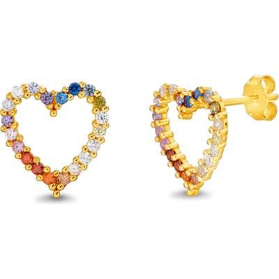 Lesa Michelle Heart Stud Earrings