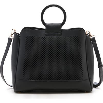 Sole Society Nicoh Faux Leather Satchel - Black