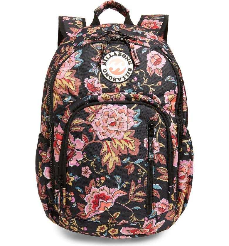BILLABONG Roadie Junior Backpack, Main, color, BLACK MULTI
