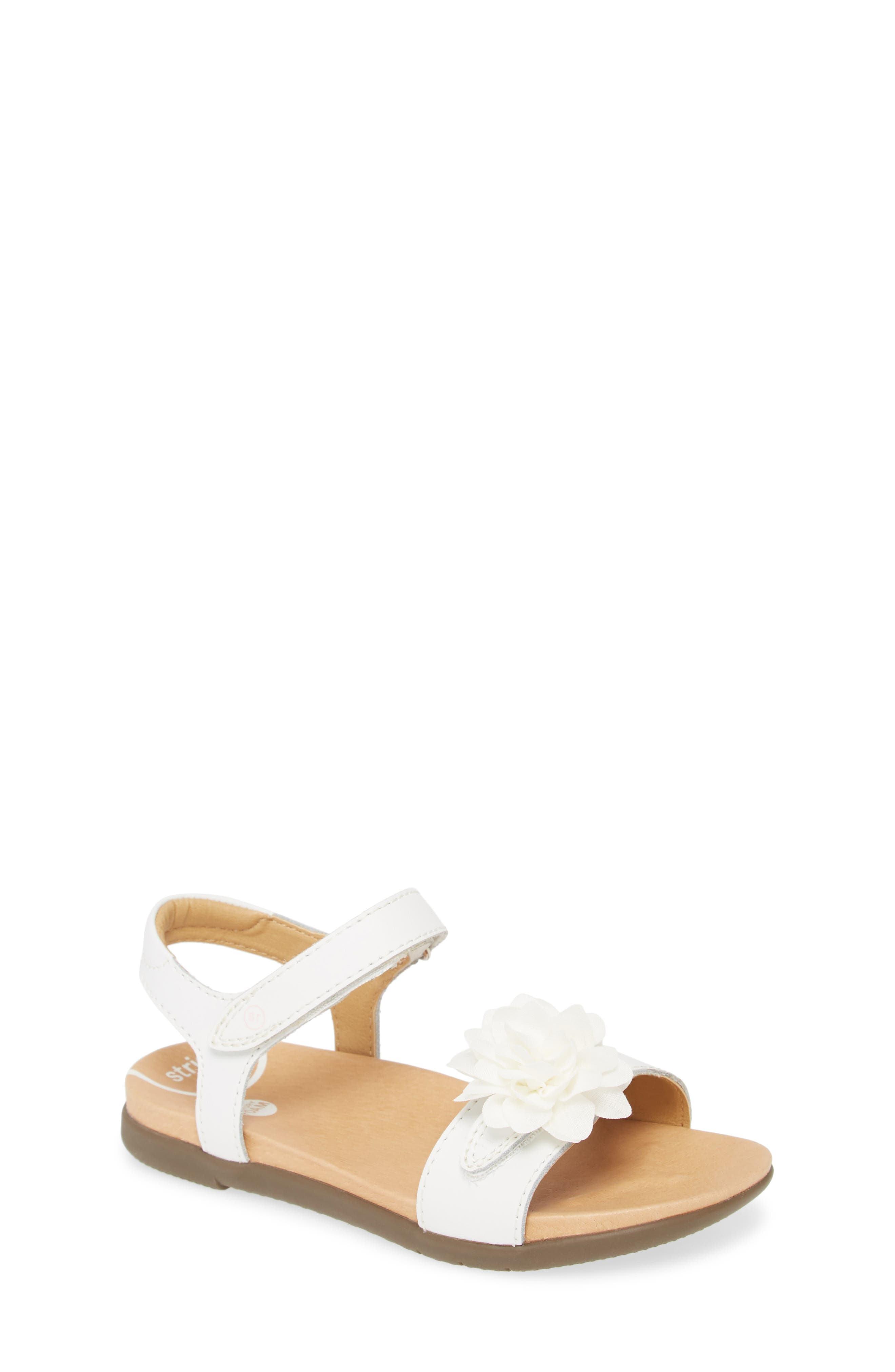 May your little one\\\'s steps be graceful in this darling flower-adorned sandal with sensory tread sole and contoured foam footbed for comfort and balance. Style Name: Stride Rite Srtech Truly Sandal (Baby, Walker, Toddler & Little Kid). Style Number: 5980834 1. Available in stores.