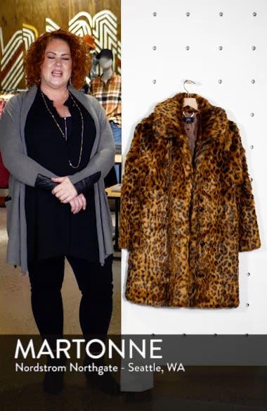 Leopard Print Faux Fur Coat, sales video thumbnail