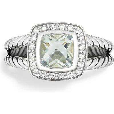 David Yurman Albion Petite Ring With Semiprecious Stone & Diamonds