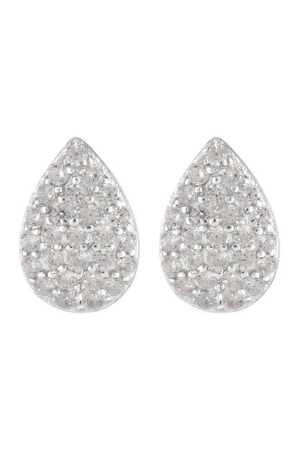 Image of Argento Vivo Sterling Silver CZ Pave Teardop Earrings