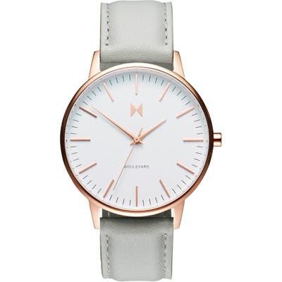 Mvmt Boulevard Leather Strap Watch,
