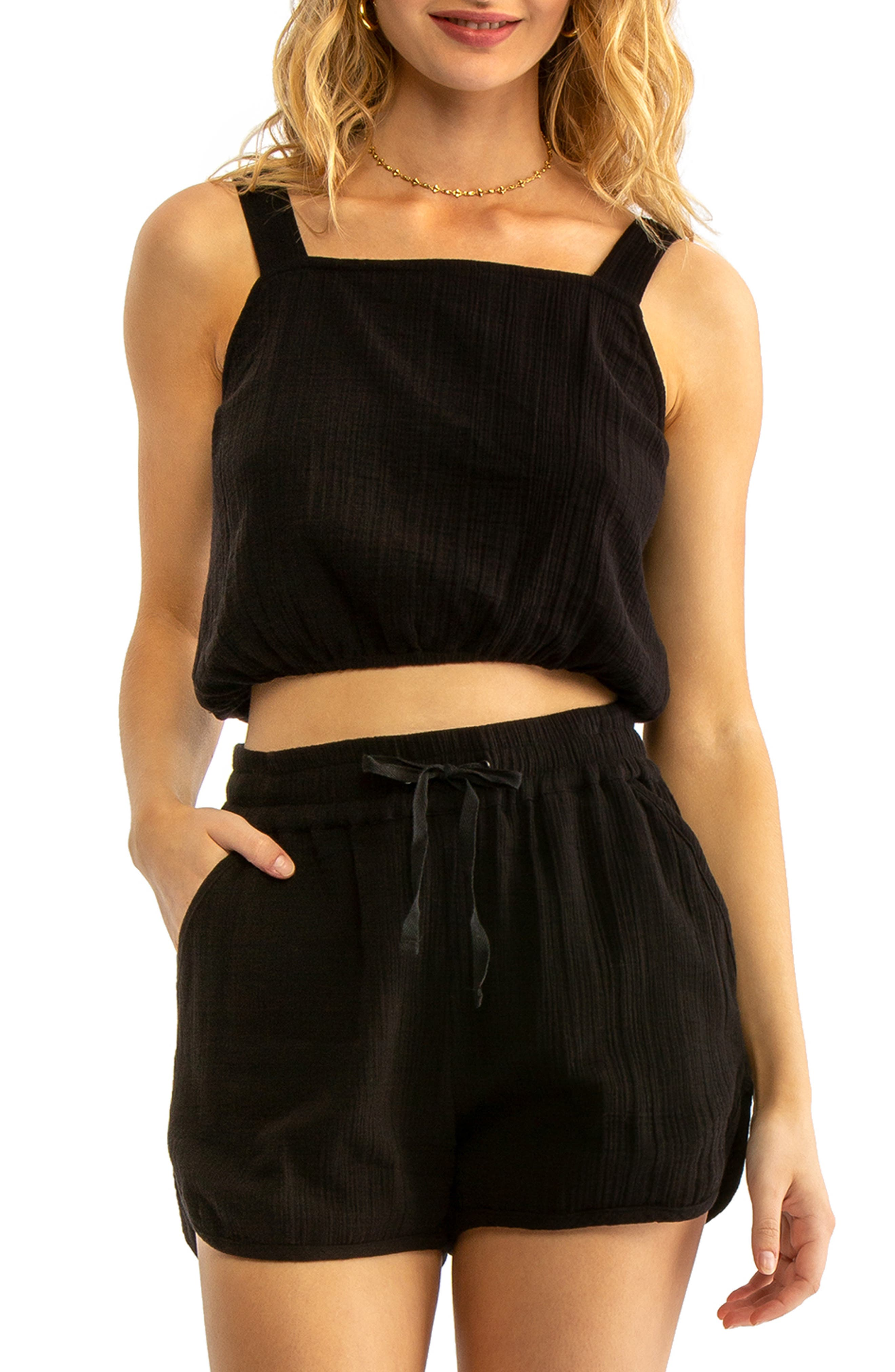 Ginny Cover-Up Tank, Main, color, BLACK