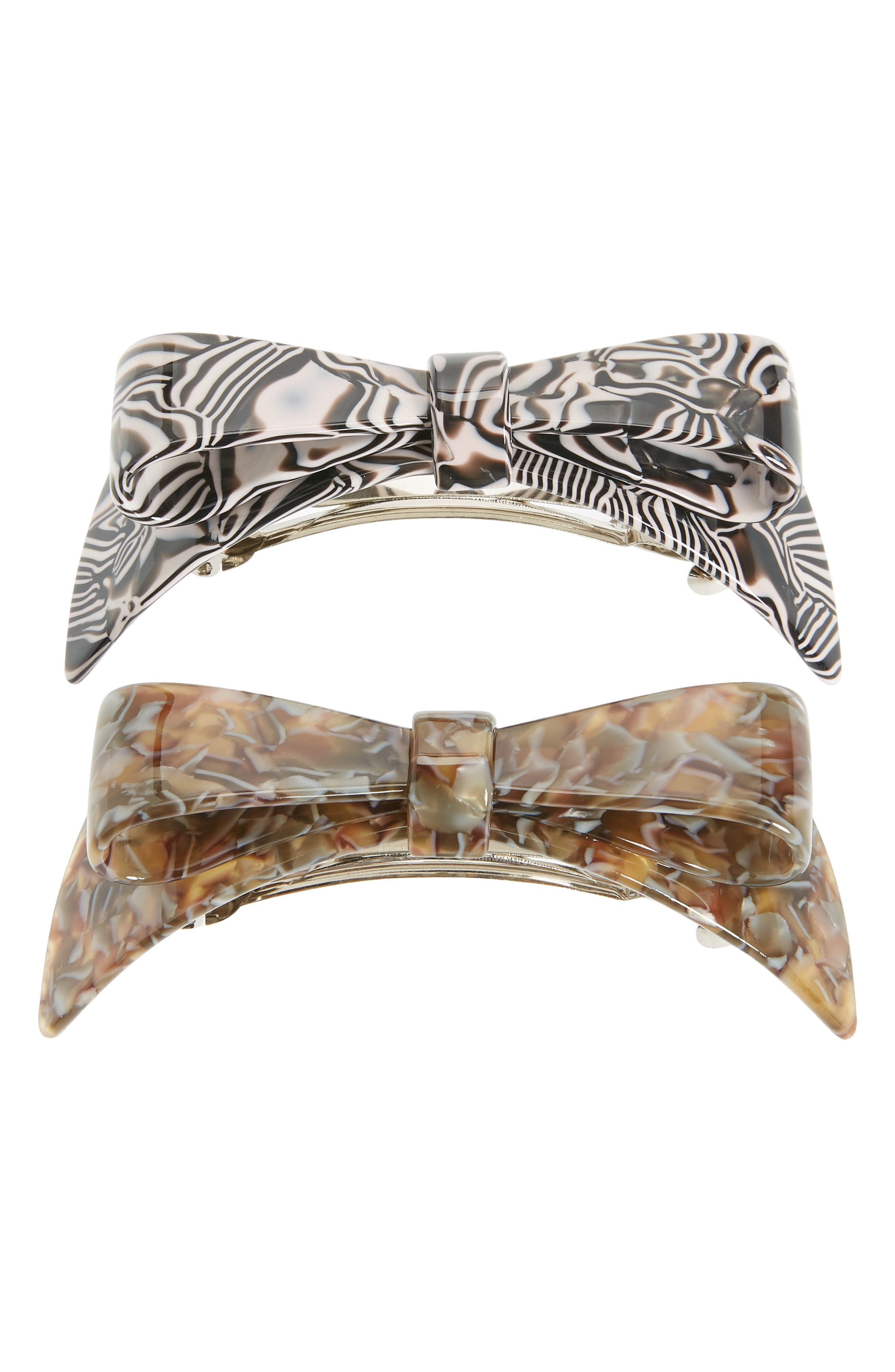 2-Pack Bow Barrettes
