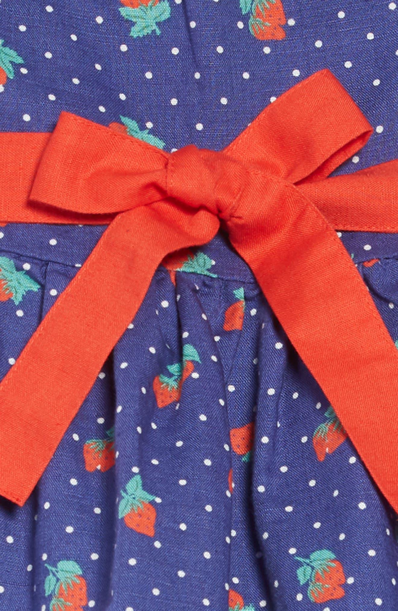 ,                             Vintage Dress,                             Alternate thumbnail 4, color,                             BLU STARBOARD BLUE STRAWBERRY