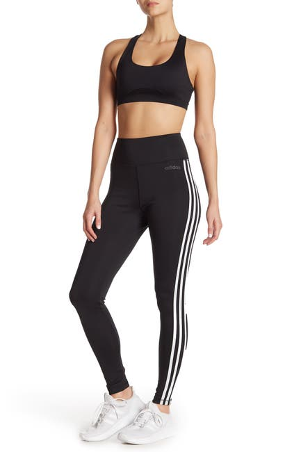 Image of adidas Design 2 Move High Rise 3 Stripe Tights