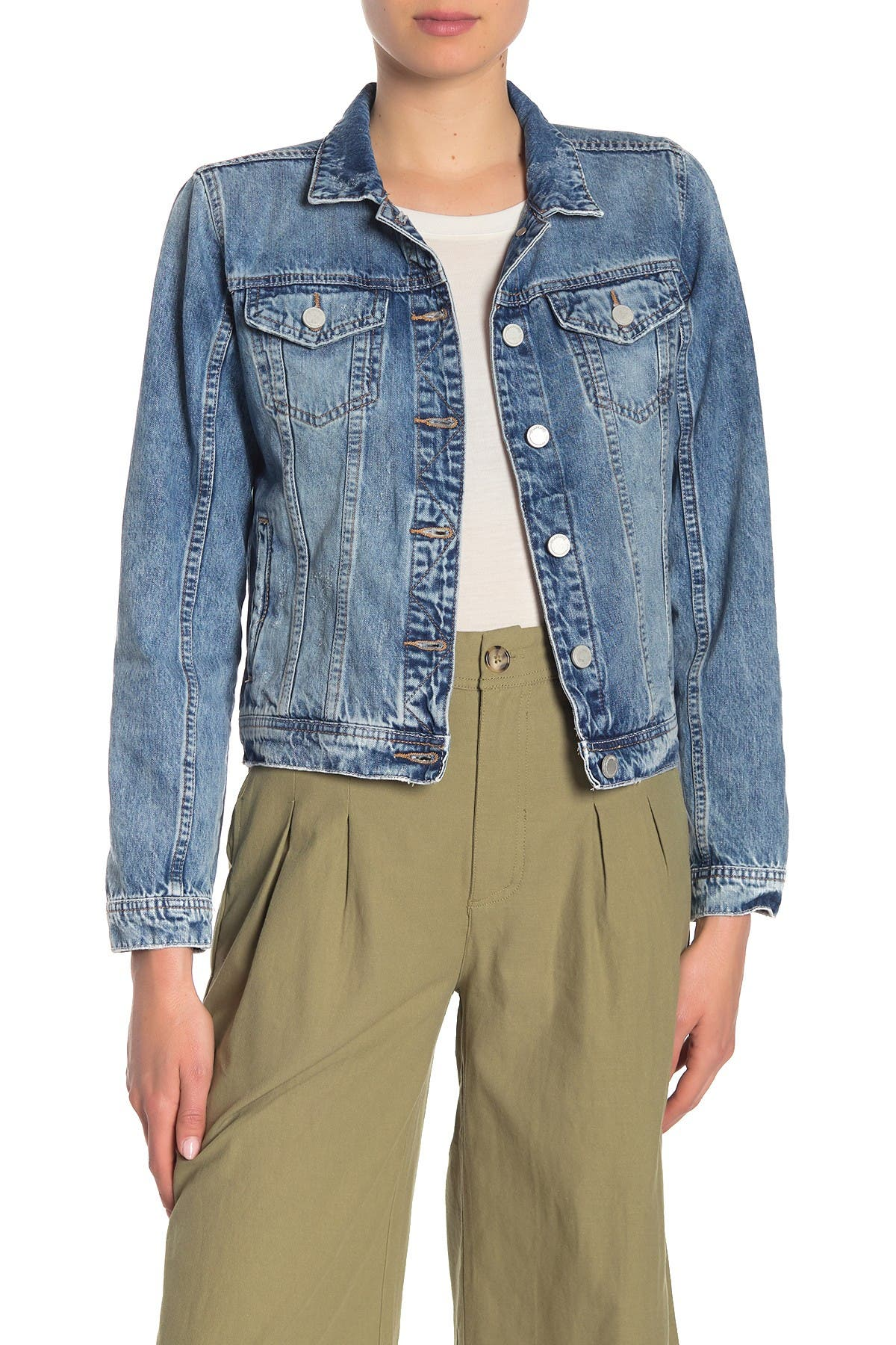 BLANKNYC Denim Distressed Denim Jacket