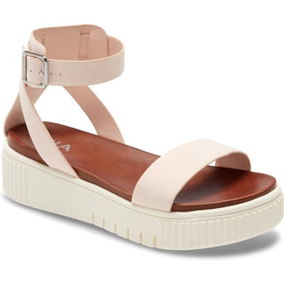 Mia Lunna Platform Ankle Strap Sandal, Pink