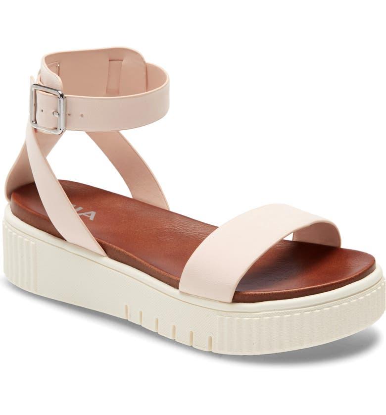 MIA Lunna Platform Ankle Strap Sandal, Main, color, BLUSH PASTEL