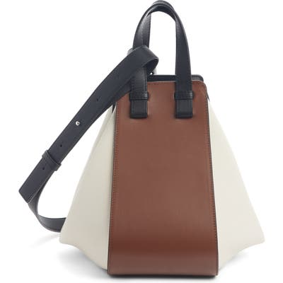Loewe Small Hammock Tricolor Leather Hobo - Brown