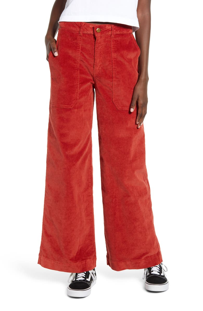 NOISY MAY Milla Corduroy Wide Leg Pants, Main, color, 600