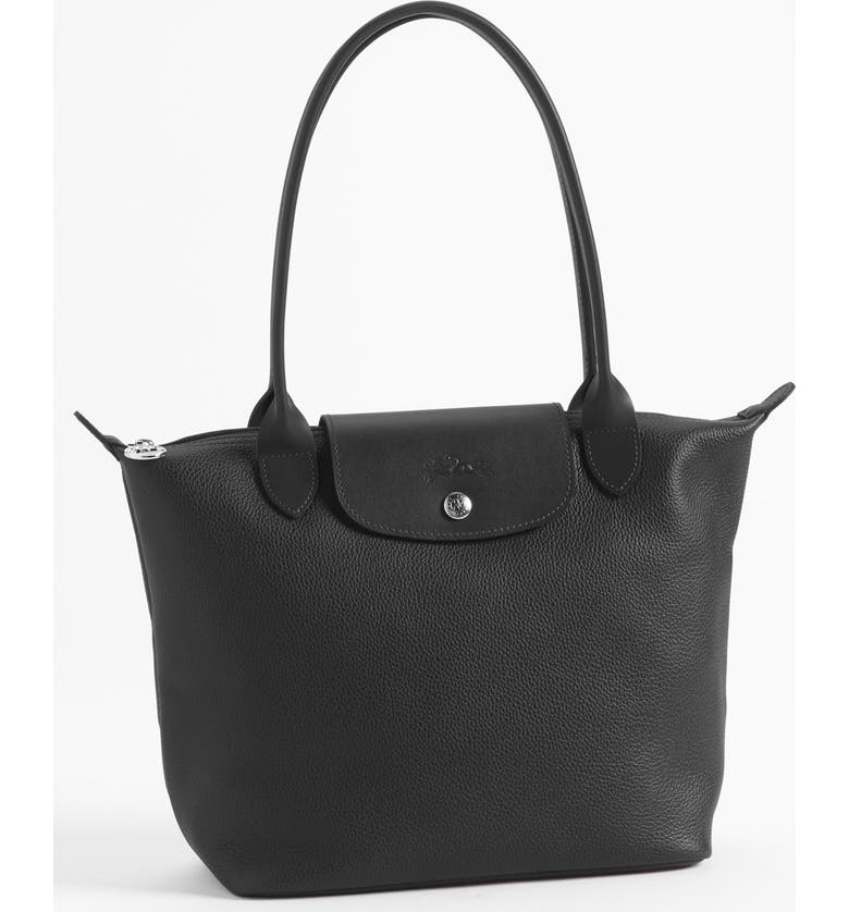 LONGCHAMP 'Veau Foulonne' Leather Shoulder Bag, Main, color, 002