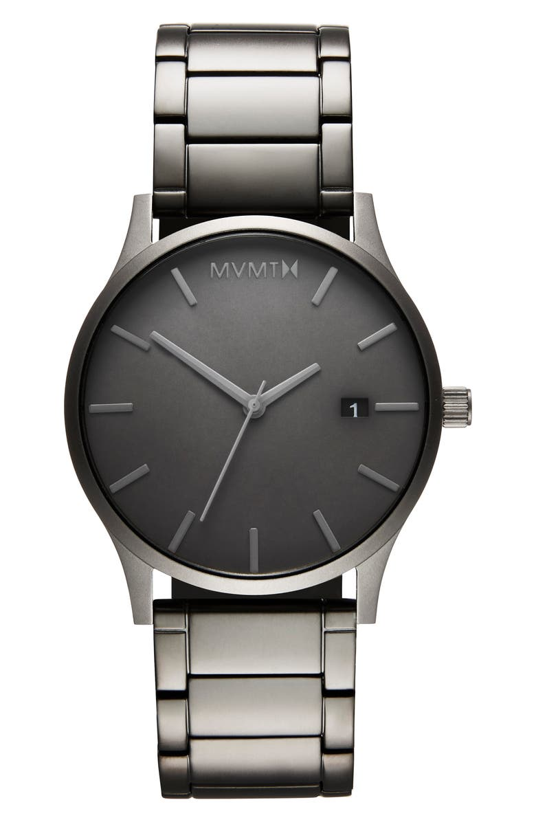 MVMT Classic Watch, 45mm, Main, color, SILVER/ BLACK/ SILVER