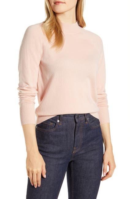 Image of EVERLANE The Cashmere Raglan Mock Neck Sweater