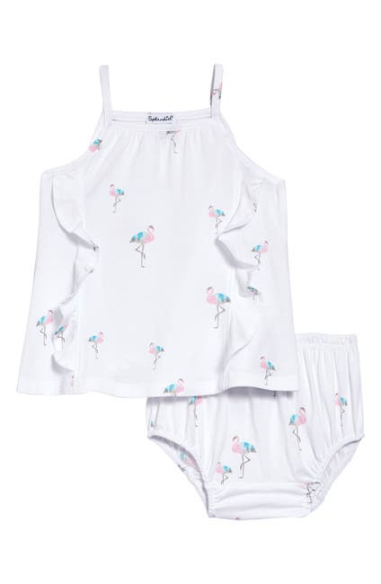 Image of Splendid Flamingo Dress & Bloomers Set