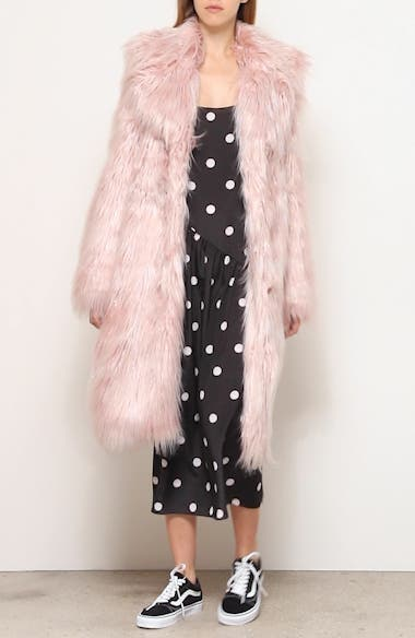 Long Faux Fur Coat, video thumbnail