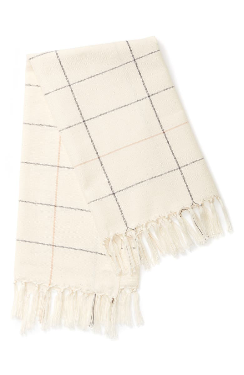 MINNA Grid Dish Towel, Main, color, CREAM