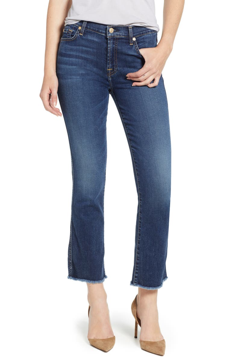 7 FOR ALL MANKIND<SUP>®</SUP> b(air) Crop Bootcut Jeans, Main, color, 401