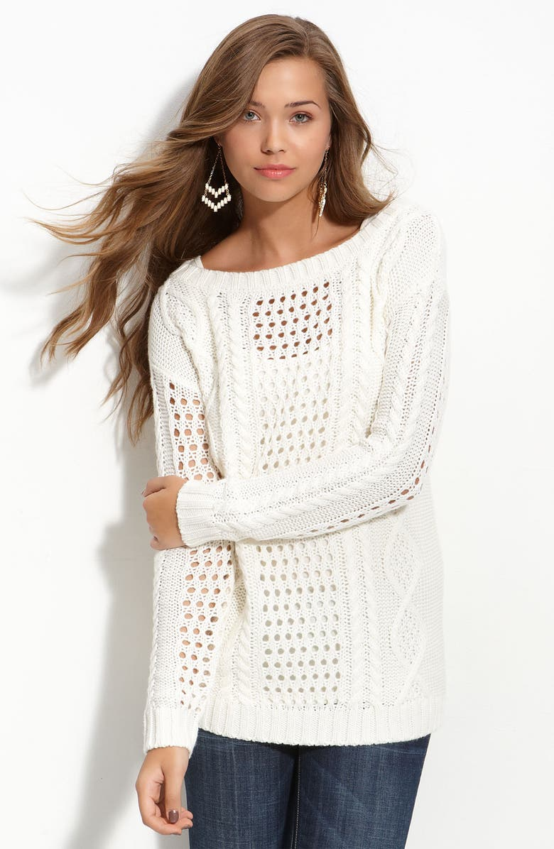 FRENCHI <sup>®</sup> Off-Shoulder Oversized Sweater, Main, color, 110